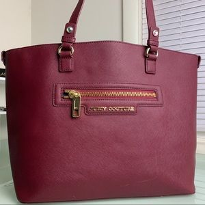 Juicy Couture Burgundy Tote Bag w/ Gold Hardware